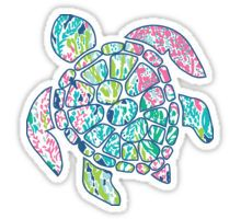 Lilly Pullitzer sea turtle Sticker