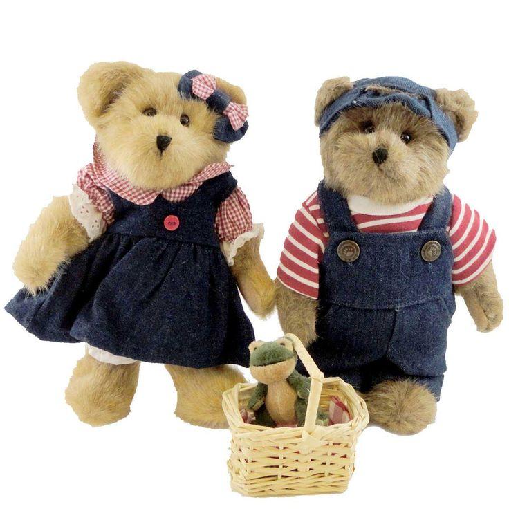 Boyds Bears Plush Billie & Suzie B Picnickin' Teddy Bear
