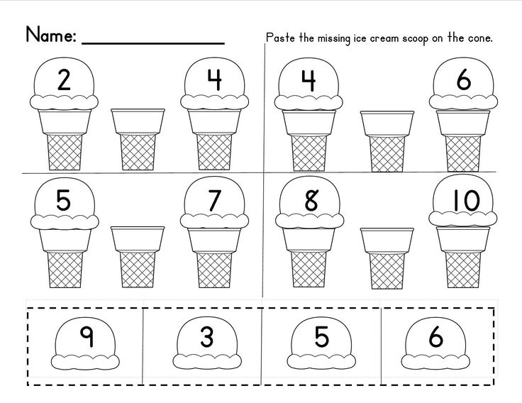 Kindergarten Worksheets Numbers 1 10 – Numbers 1-20 Worksheets for Kindergarten