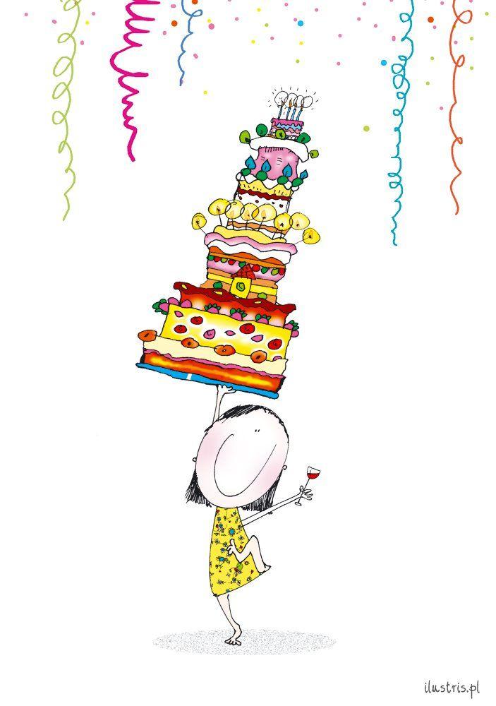 """Kartka PC 1018 """"Tort urodzinowy"""""""