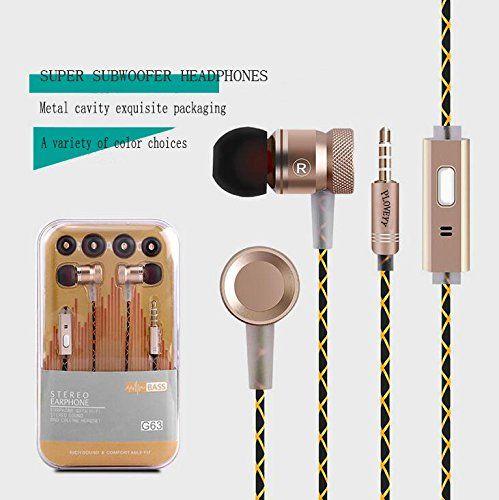 Special Offers - Ploveyy Headphones Earphones Earbuds In-Ear Wired 3.5mm HIFI Headset with Microphone for iPhone 7 iPad Android Phones 6S Samsung Note 7 Windows Phones MP3 MP4 and Tablets and for Running Sports-Gold For Sale - In stock & Free Shipping. You can save more money! Check It (December 01 2016 at 01:40PM)…
