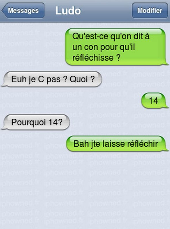 SMS drôles (4)                                                                                                                                                                                 Plus