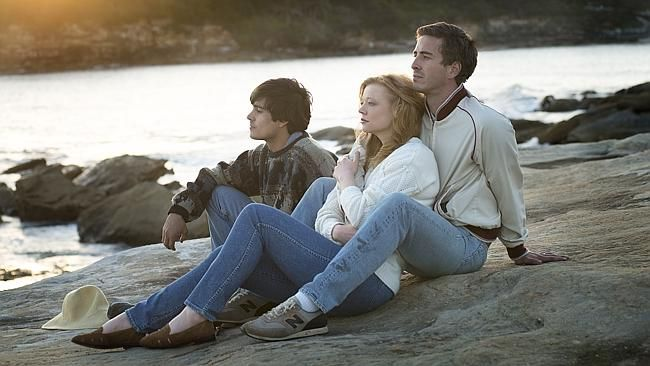 "Craig Stott, Sarah Snook and Ryan Corr in ""Holding the Man""."