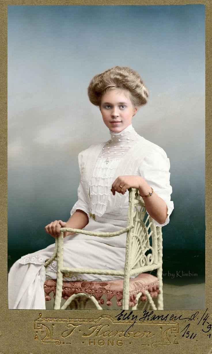 Portrait of a young woman Denmark 1911 Portrait