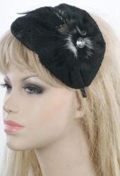 Zwarte vintage look haaraccessoires met strass-steentje