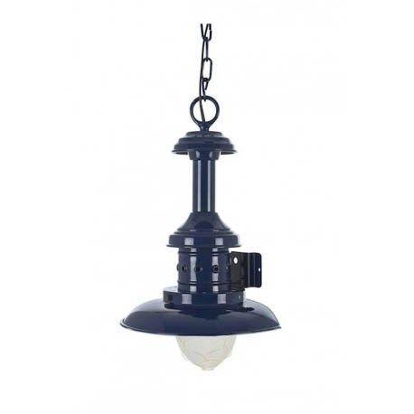 Lámpara náutica de techo azul 21 cm Diámetro