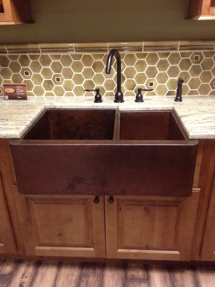 Hammered, Copper, farm-style sink!! The one I've been eye-balling for over 2 yrs now!