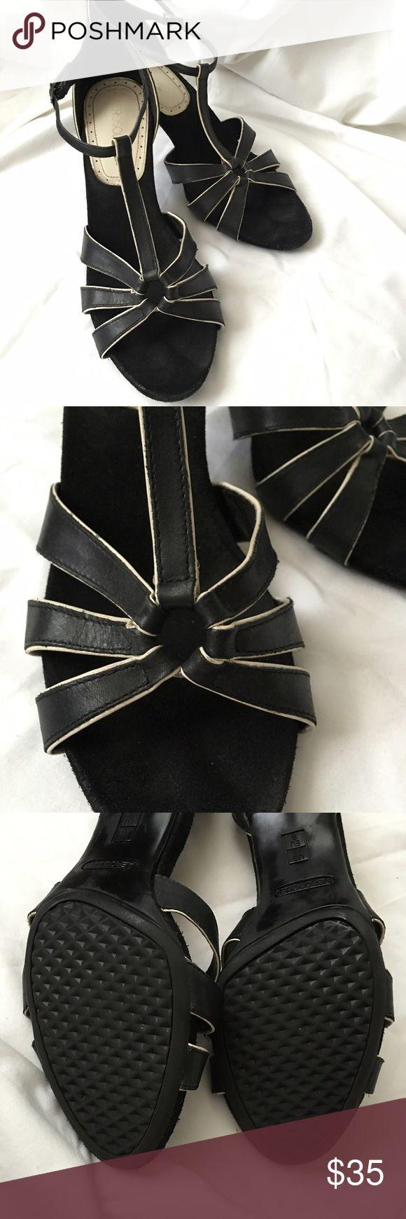 "Aerosols black and cream strappy heels Gorgeous black and cream heels, only worn a few times. 2 1/2"" heels AEROSOLES Shoes Heels"