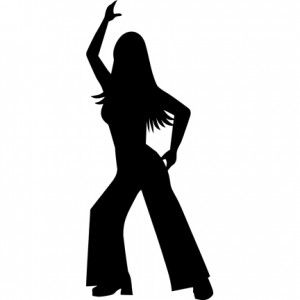 Disco Silhouette Girl
