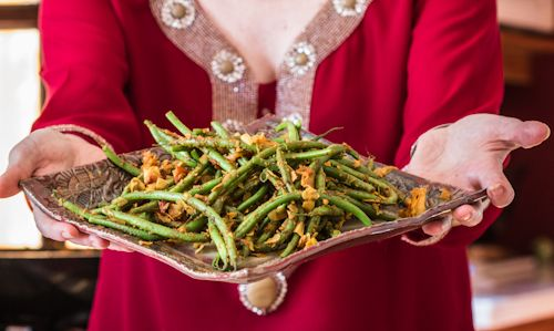 Indian Green Beans - The Messy Baker