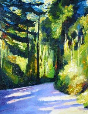 "Saatchi Online Artist Ieva Baklane; Painting, """"Path in the Lighthouse park"" "" #art"