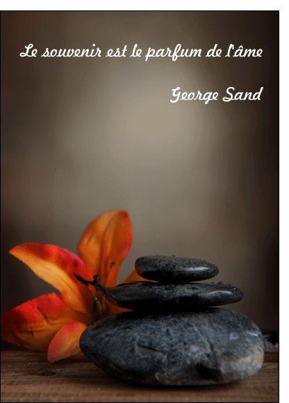 Le souvenir est le parfum de l'âme - Carte condoléances citation par La Poste