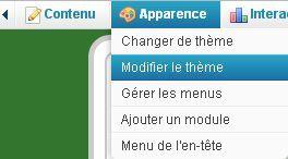 Modifier la feuille de style CSS