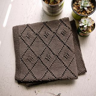 This baby blanket is a straightforward design in which I utilized the basic principles for calculating a square blanket using stash yarn I had on-hand.