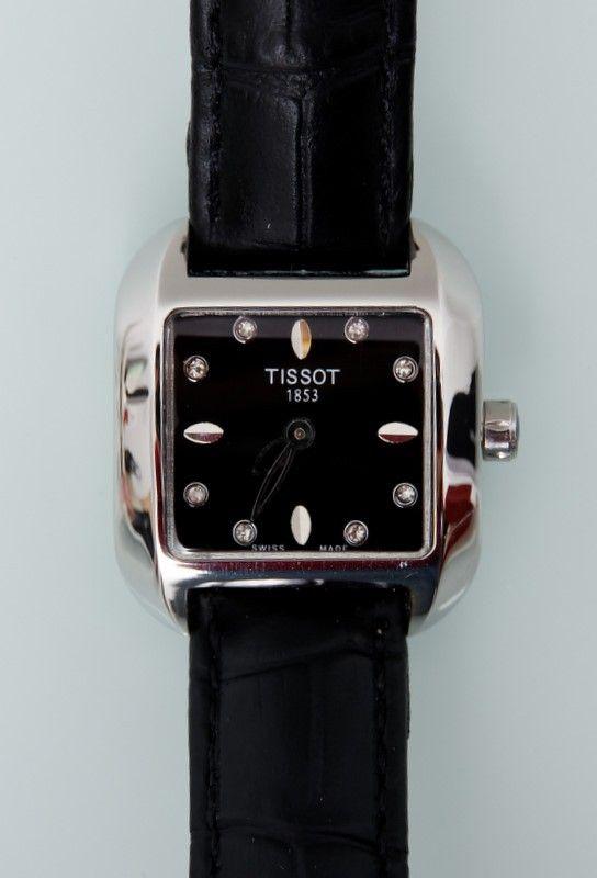 Часы Tissot женские, сапфировое нецарапающееся стекло, кожаный ремешок под крокодила