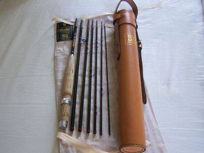 Stunning Hardy Fly Fishing Rod The Smuggler & Original Hardy Leather Travel Tube