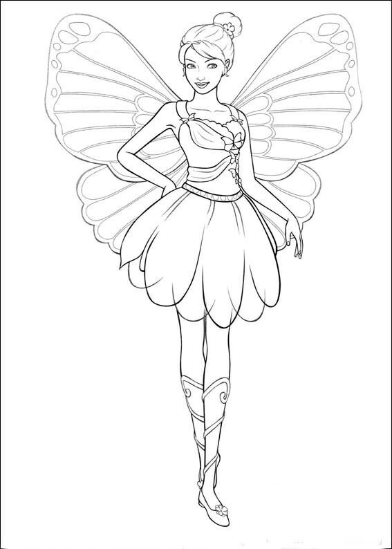 Pin By Lina Lortie On Dessin Barbie Coloring Pages Fairy Coloring Pages Barbie Coloring