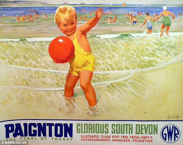 Paignton - The Pearl of Torbay. Gorgeous poster ... dripping with wonderful nostalgia.
