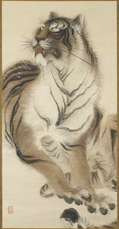 Chikudo_ Kishi , Sitting Tiger, late 19th century https://collections.artsmia.org/index.php?page=detail=78620