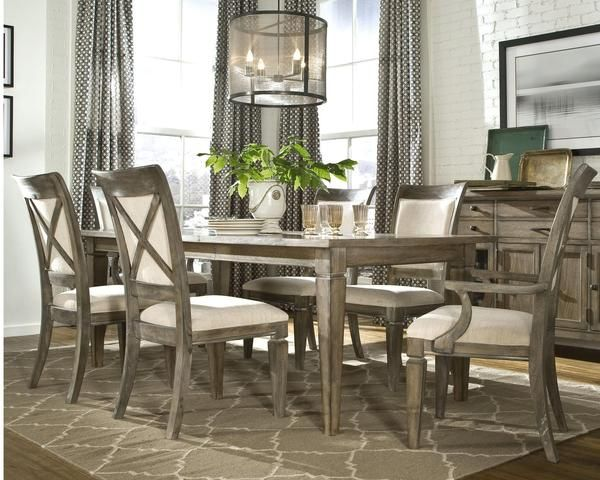 Legacy Brownstone Village 7 Piece Dining Table Set With Upholstered Chairs    The Legacy Brownstone Village 7 Piece Dining Table Set With Upholstered  Chairs ...