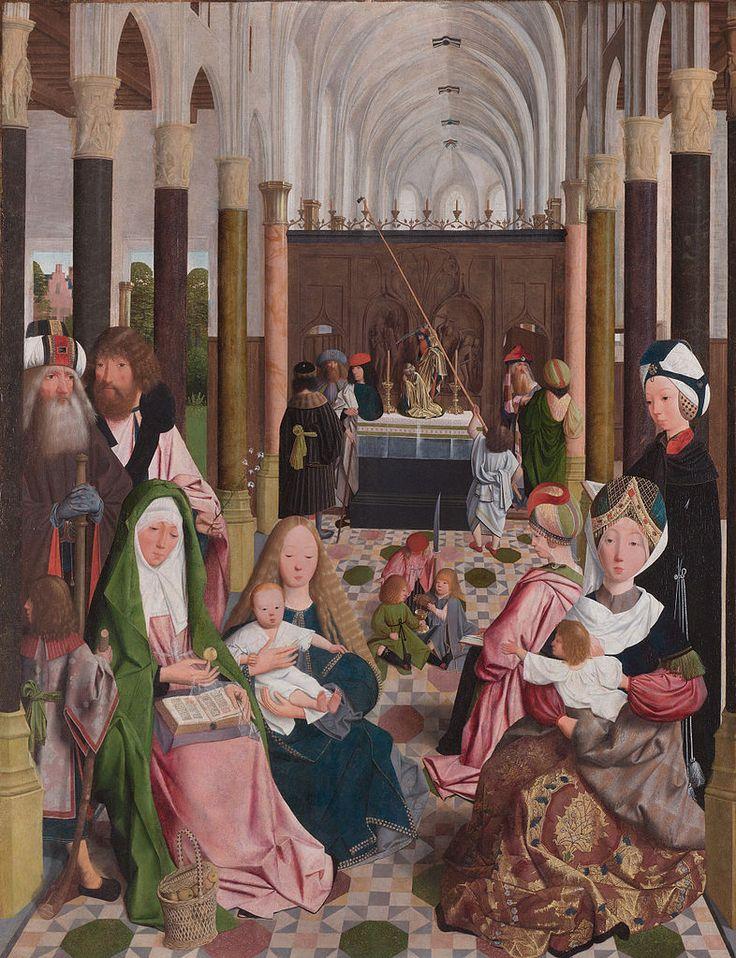 Geertgen tot Sint Jans (1460/1465 – до 1495) Святая родня   .Прославление Марии 1475-80
