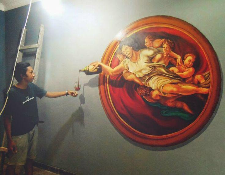 Wall painting Jogja, 3D Art wall Painting, Mural