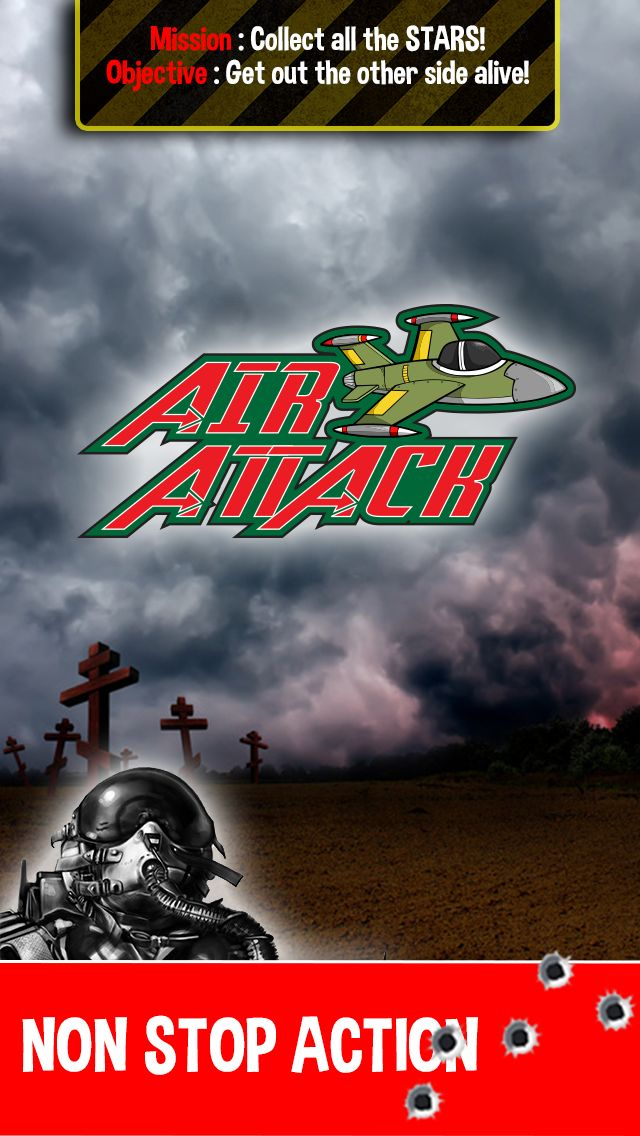 Air Attack is cool fighter jet game with non-stop action ... colelcting stars and dodging pipes to stay alive