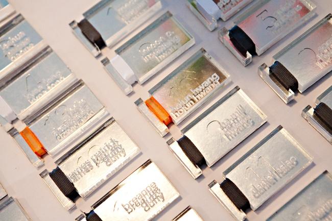 acrylic, laser engraved escort cards