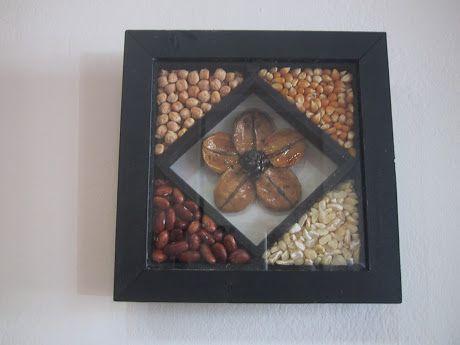 Cuadro con semillas