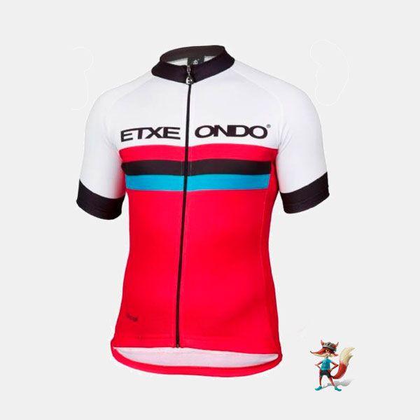 Maillot Etxeondo 1976 rojo - Ciclos Aragon es un maillot con un estilo clásico y colorido, pero con las características de un maillot muy técnico: transpirable, elástico y de rápido secado. 89,00 www.ciclosaragonshop.com