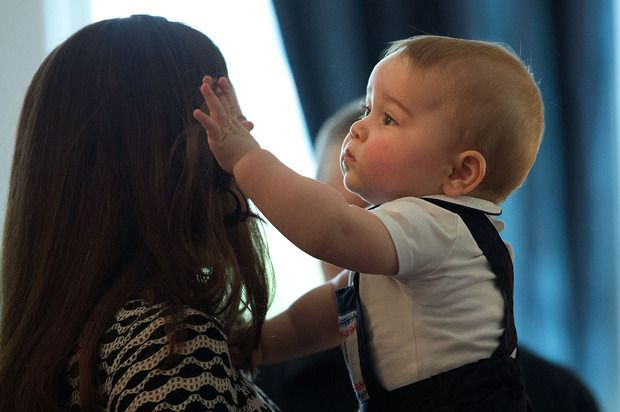 Duchess Kate and Prince George. So much love.