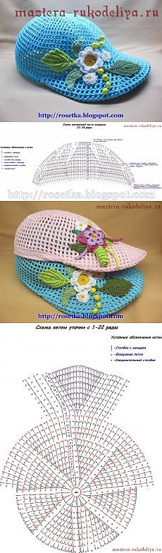 Мастер-класс по вязанию крючком: кепка Уточка / Вязание крючком / Детская одежда крючком. Схемы