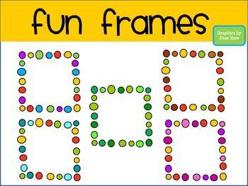 fun frames clip art borders dots doodle squ
