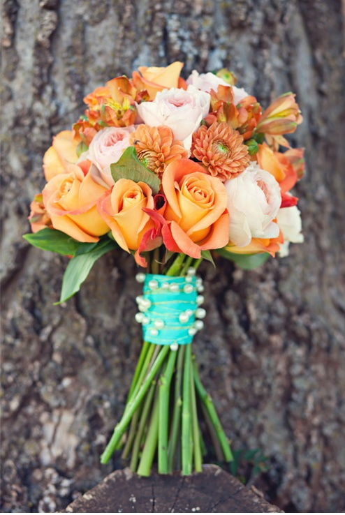 72 Best Images About Orange And Teal Wedding Flowers On Pinterest