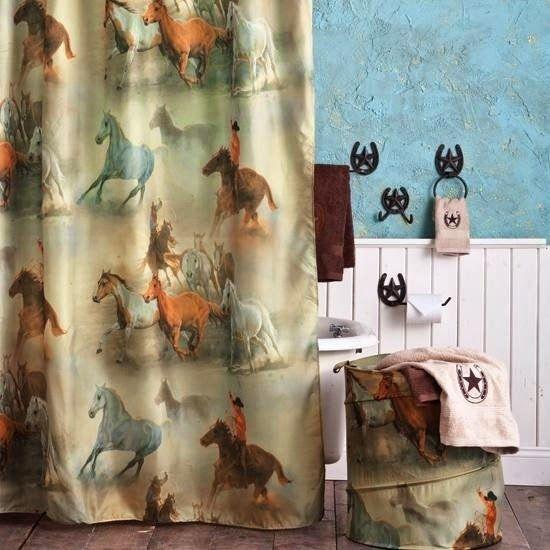 Curtain Ideas: Western Themed Shower Curtains
