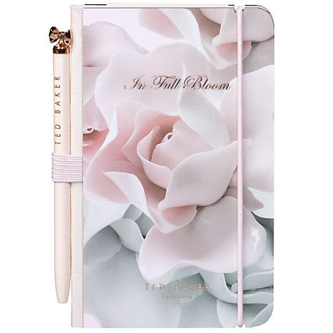 Ted Baker Mini Notebook and Pen, Rose