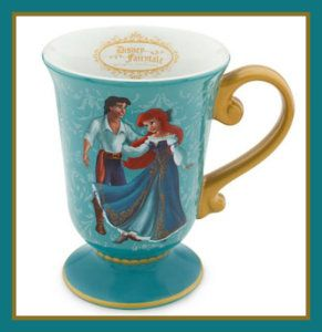 Designer Collection, Princess Ariel & Prince Eric Mug: The little Mermaid Disney Ceramic Mugs.