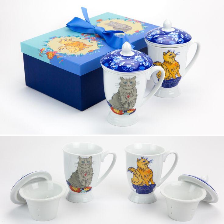 Conjunto de 2 Canecas Infusoras Her Majesty The Cat | A Loja do Gato Preto | #alojadogatopreto | #shoponline | referência 130666719