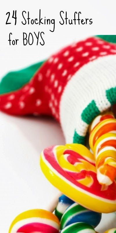 24 awesome ideas for stocking stuffers that boys will love!  (Psst - I'm sure girls will love these ideas, too!)