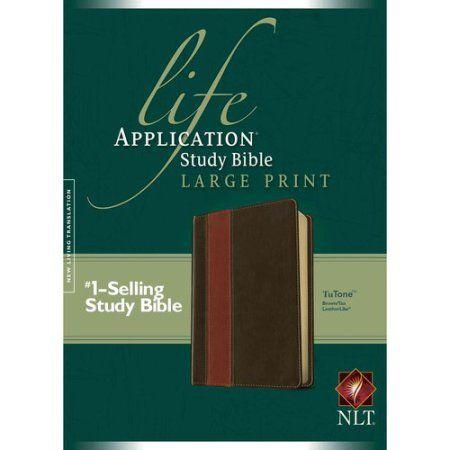 Life Application Study Bible: New Living Translation Brown / Tan TuTone LeatherLike