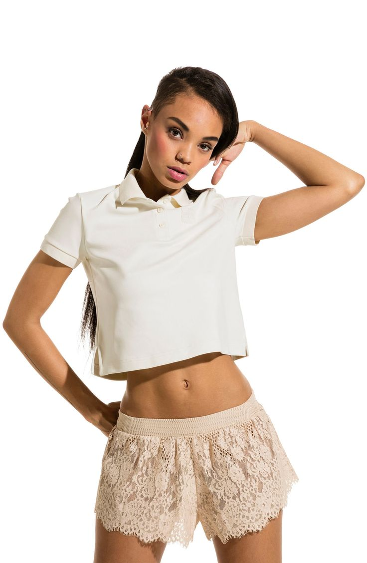 New FENTY PUMA by Rihanna Baby Crop Polo Shirt MARBLE MULTI fashion online. [$80] new offer from Thenewoffer<<