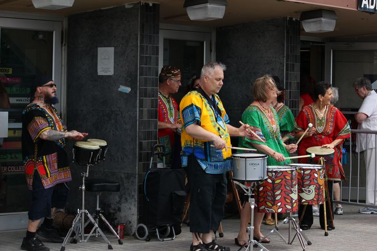 Gio (Far Left) and friends provided some of the entertainment.