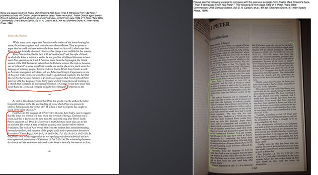 Mark Driscoll accused of plagiarism by radio host; Img: Mefferd has provided side-by-side photocopied comparisons of the material on her website.