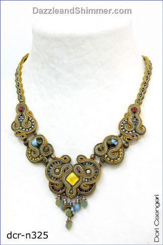 Dori Csengeri creates magnificent creations of passementerie necklace.