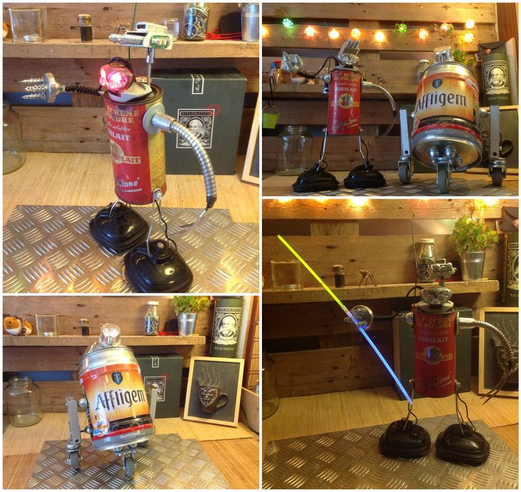 Easy Diy Projects With Household Items: 17 Best Images About Robot Art Crafts & DIY On Pinterest