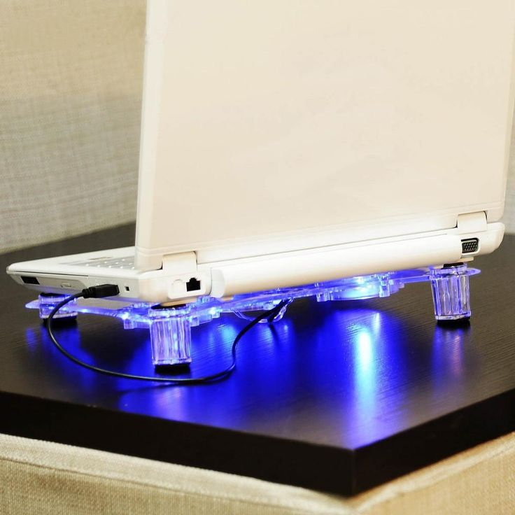 NA JU 3 Fans Laptop Cooler Base With Blue LED Light Notebook Cooling Pad Stand Air-cooled Computer USB Fan Support For Laptop PC