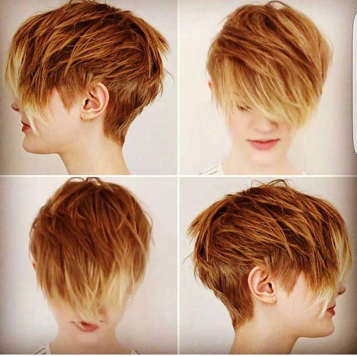 10 abgehackte Haarschnitte für kurzes Haar in verrückten Farben