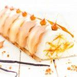 Bûche de Noël vanille, caramel et spéculoos