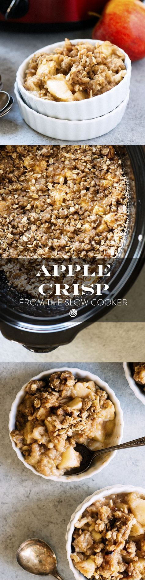 Slow Cooker Apple Crisp Recipe. Crock pots fanatics, listen up! This easy and quick dessert is the king of all fall recipes. Go apple picking, then add this to your list of must-make desserts