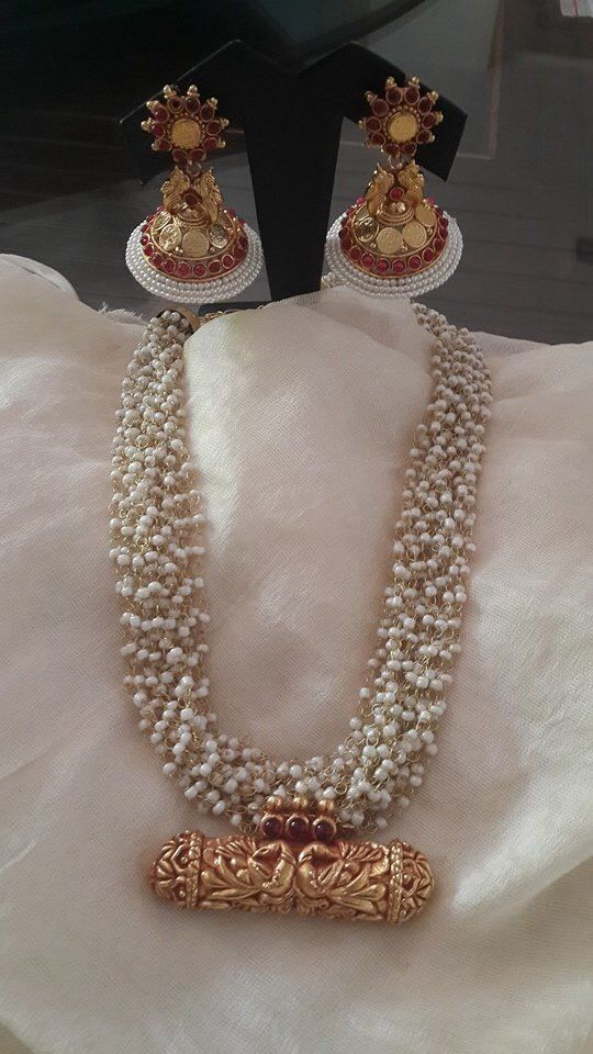Pearl temple jewellery